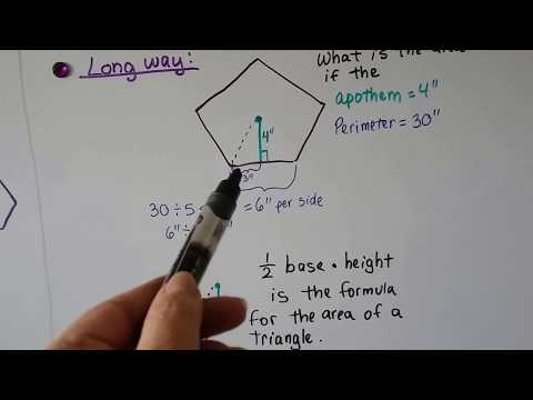 Find Area of regular polygon with Perimeter and Apothem