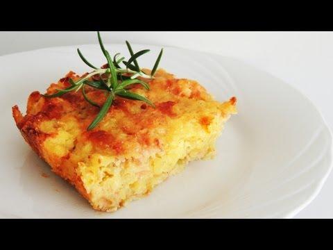 Potato Ham & Cheese Casserole Recipe (Gateau di Patate)