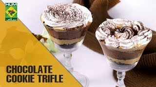 Divine Chocolate Cookie Trifle Recipe   Evening With Shireen   Masala TV Show   Shireen Anwar