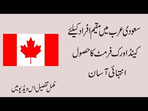 How to apply For canada Work Visa In Saudi Arab Urdu/Hindi