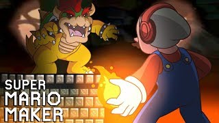 BOWSER IS 100% CHEATING ON THIS LEVEL!! [SUPER MARIO MAKER] [#129]