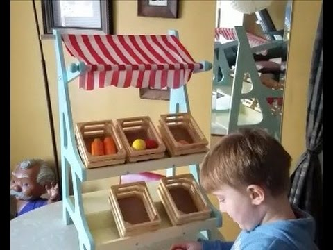 Toy Grocery Market Fruit Stand Review