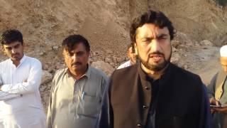 MNA Kohat visit on Nizam por 61KM road Kohat to Noshehra