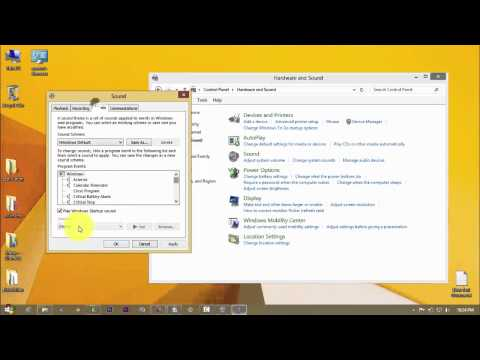 how to disable startup sound in windows 8.1