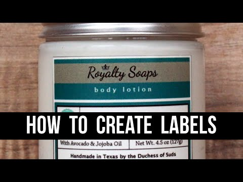 How to Make Product Labels (With 100% Free Software) - A GIMP Tutorial for Beginners | Royalty Soaps