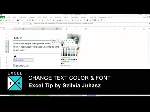 Change Text Color & Font In Excel -