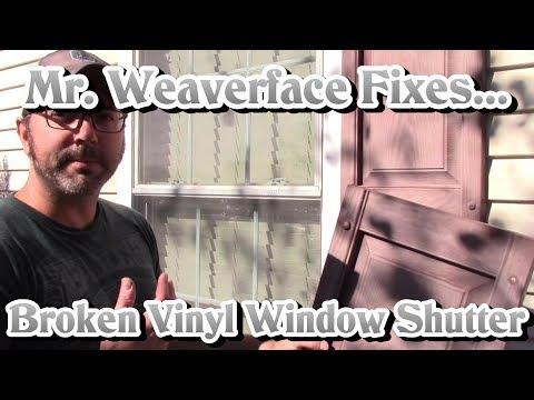 How to Install Vinyl Window Shutter | DIY Fastener Replacement & Repair | Easy $5 Fix!