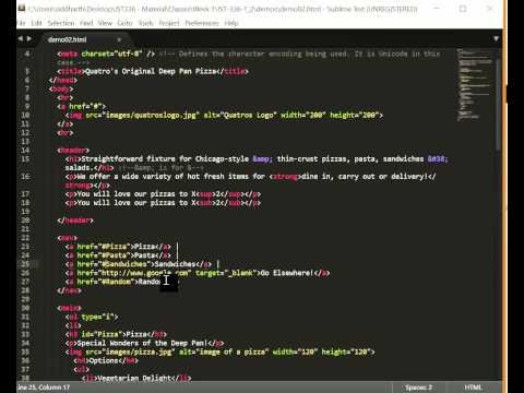 HTML5 Hyperlinks