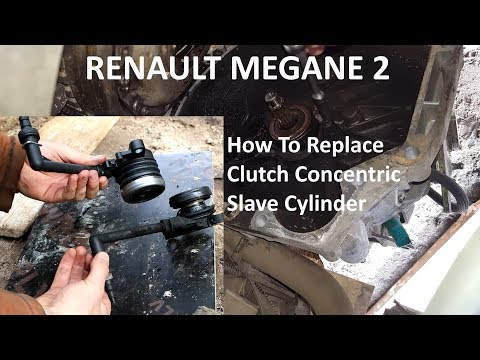How to replace Renault Megane 2 Clutch Concentric Slave Cylinder