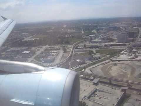Air Canada landing Vancouver A321 AC 181