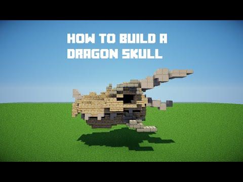 Minecraft Tutorials | How to build a dragon skull