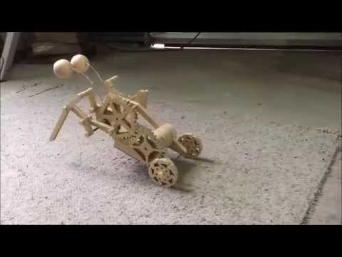 Creepy Bot - Wooden mechanical toy