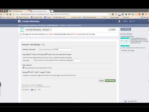 Adding Pinterest App to your Business Page on Facebook