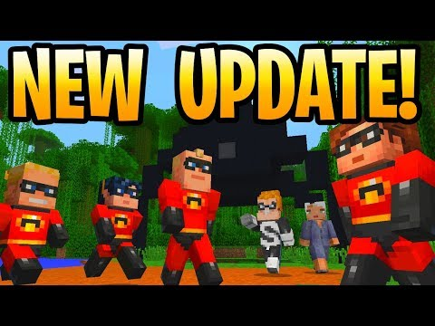 Minecraft New Console Update Is Out! The Incredibles PS3, PS4, PS Vita, Xbox 360, Wii U & Switch