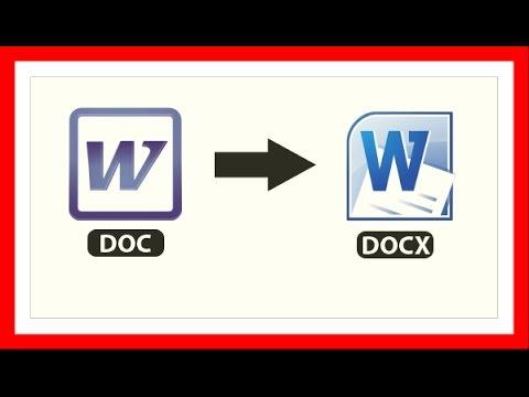 How to Convert Docx to Doc