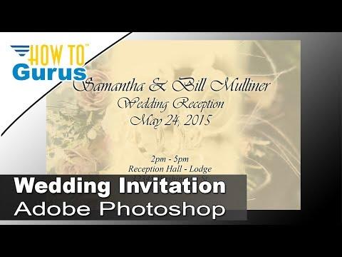 How to Design Wedding Invitation Cards in Adobe Photoshop CC 2018 CS6 CS5 Tutorial