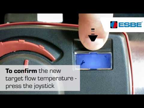 Guidance for installers_ESBE CRA_Change of target temperature