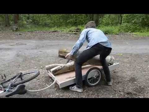 Bike Trailer - How to carry off wood from a forest [eng]