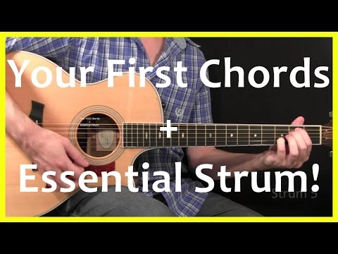 Guitar Lessons - Your First Chords And Strum
