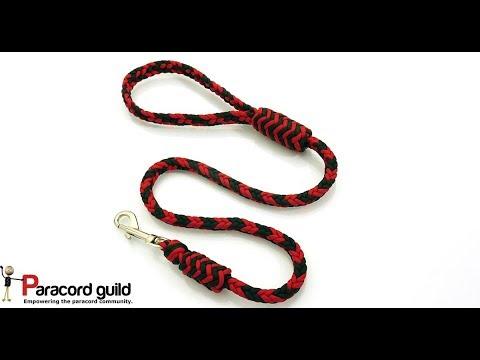 Herringbone braid paracord dog leash