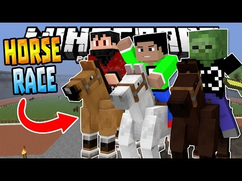 HORSE RACING in MCPE 0.15.0!!! - Epic Horse Race W/Friends - Minecraft PE (Pocket Edition)
