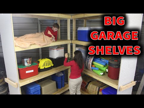 Huge Heavy Duty Mobile Shelves // DIY How-To