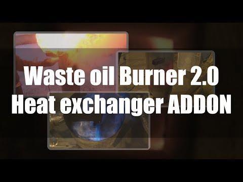 SUPER HOT! Waste oil burner 2.0