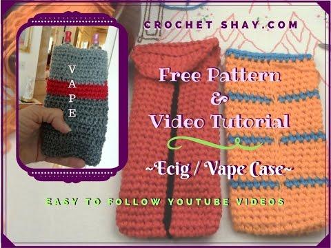 Crochet an Ecig dual Vape case