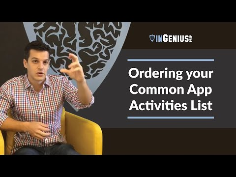 Common App Activities List: How Should I Order Them