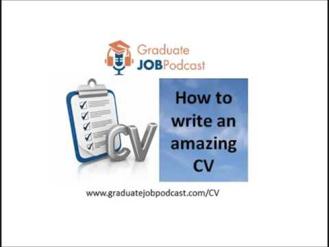How to Write an Amazing CV -  Lis McGuire on the Graduate Job Podcast #10