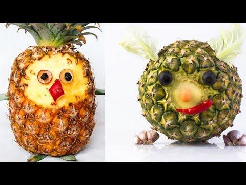 FUN FOOD IDEAS TO CUT FRUITS & VEGETABLES