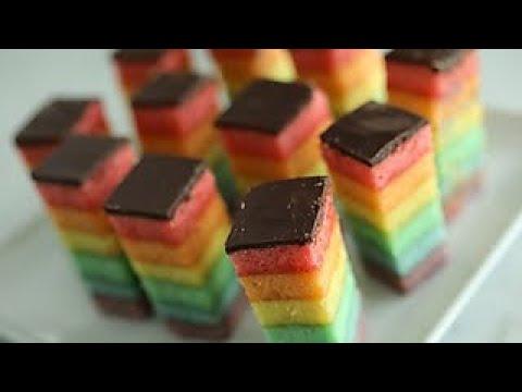 Italian Rainbow Cookies | Genius Kitchen