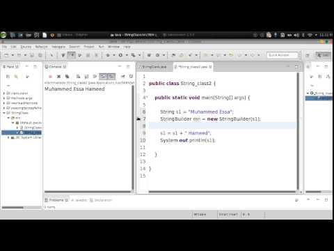 62 Java String StringBuilder StringBuffer جافا نوعين من طرق التلاعب مع النصوص