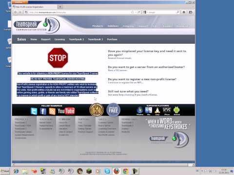 TeamSpeak 3 Server + Server Admin + NON-Profit License [Part 2]