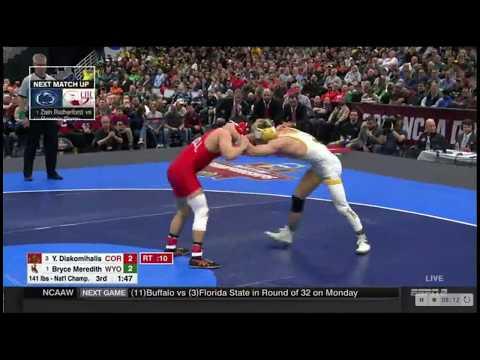 141 lbs. Final - 2018 NCAA Wrestling Champ. 3 Diakomihalis (COR) vs 1 Meredith (WYO) March 17, 2018