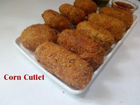 Corn Cutlet (मकई के कटलेट) । Corn Kebab | Crispy Corn Kebabs | Sweet  Corn Patties