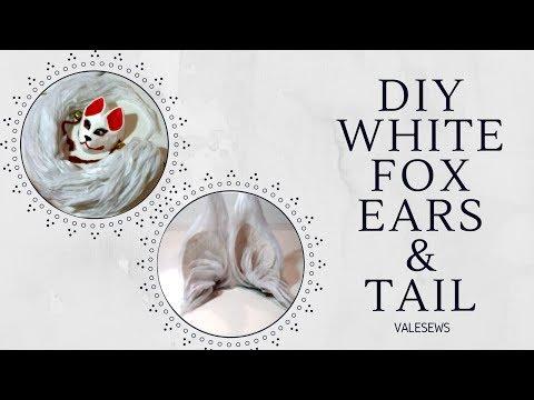 DIY NO SEW White Fox Ears & Tail Kitsune Kamisama kiss inspired | Valesews