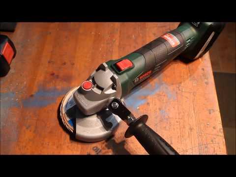 Angle grinder add   - Easy to adjust tilting handle -