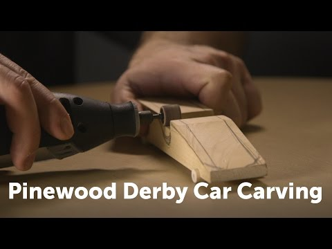 CSUN Pinewood Derby Car Carving