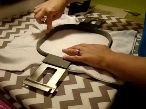 How to Hoop a Shirt for Applique