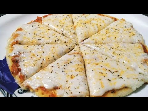 How to make Margherita Pizza without oven   Cheese Pizza (easy to make)   Homemade pizza maker oven
