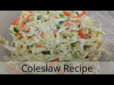 Coleslaw Recipe | Cole Slaw Recipe | How to make Coleslaw | Easy coleslaw | MyFoodLove