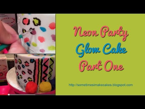 Glow Party Neon Cake