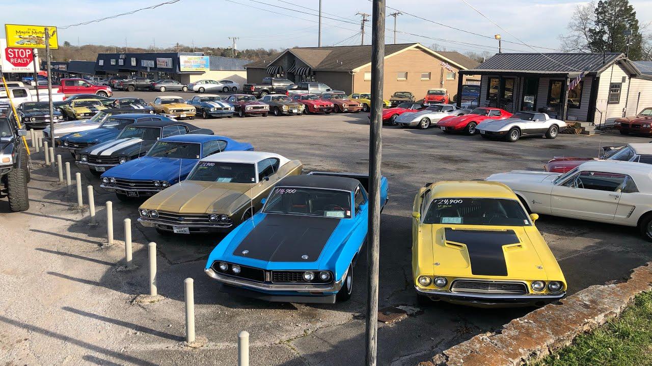 "Hot Rod Muscle Car Dealer "" Full Lot Walk "" Maple Motors 3/14/19"