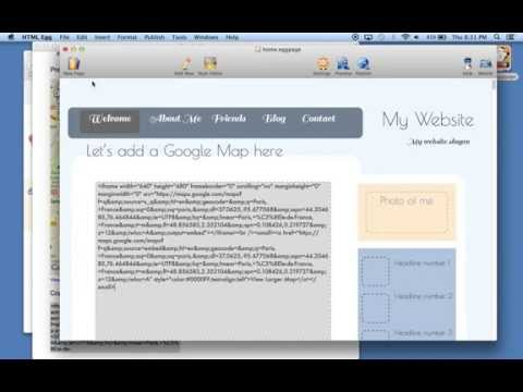 How to add an interactive Google Map into your web page using HTML Egg for Mac