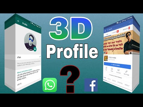 3D Whatsapp and Facebook Profile🔥🔥