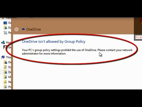 How To Fix 'OneDrive isn't allowed by Group Policy' Windows 8.1 (Diagnostics Troubleshooting Wizard)