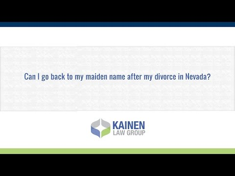 Can I go back to my maiden name after my divorce in Nevada?