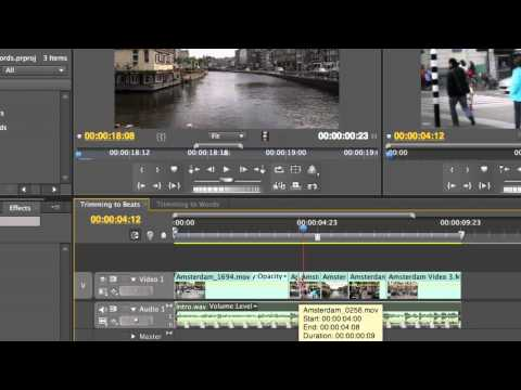 Adobe Premiere Pro CS5.5 Trimming to Beats and Words