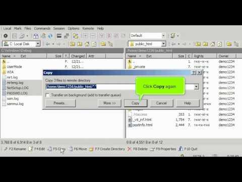 FTP - Uploading files using WinSCP